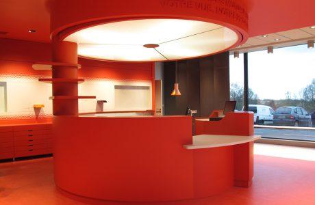 Comme Un Trait architecte Sarthe design d'espace pour opticien mutualiste
